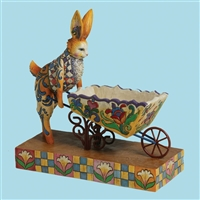 Heartwood Creek Bunny Pushing Wheelbarrow Figurine by Jim Shore, 4001849