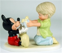 Boy Giving Mickey Mouse Present - Disney and Me Figurine, 4004003