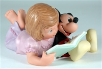 Girl Reading Book with Mickey Mouse - Disney and Me Figurine, 4004004