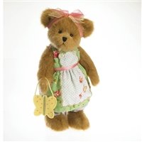 Boyds 12in Plush Bear with Butterfly Bag, 4027324