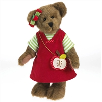 Boyds 14-inch Plush Bear in Apple Dress, 4034125