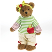 Boyds 12-inch Plush Bear in Apple Outfit, 4034126