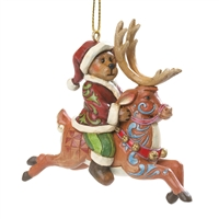 Santa Bear Riding Reindeer - Boyds, Jim Shore Ornament, 4035832