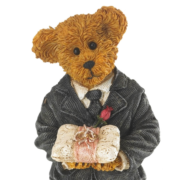 Boyds Bear Wedding Ring Bearer Figurine