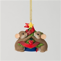 Charming Tails Mice Decorating for Christmas 2012 Tree Ornament, 4027666