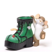 Mouse with Frankenstein Boot - Charming Tails Figurine, 4034321