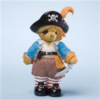 Bear Dressed in Pirate Costume - Cherished Teddies Collectible Figurine, 4023635