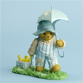 Bear with Umbrella and Wagon of Chicks - Cherished Teddies Figurine, 4031519