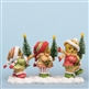 Three Bears with Christmas Trees - Cherished Teddies Figurine, 4034592