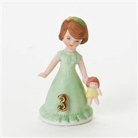 Age 3, Brunette - Growing Up Girls Figurine, E9527