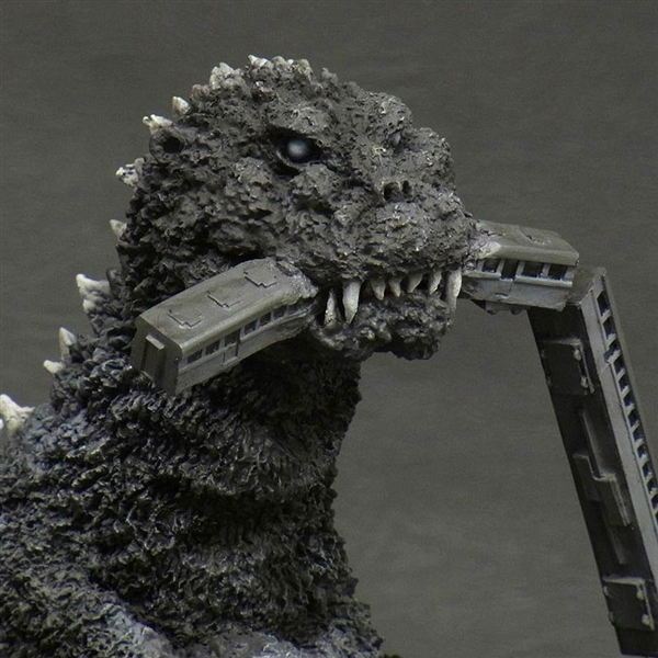 X Plus 30cm Series Godzilla 1954 Train Biter Monochrome