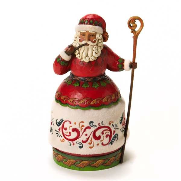 Heartwood creek santa with pipe and cane figurine by jim