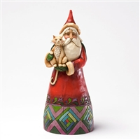 Classic Santa Holding Cat - Jim Shore / Heartwood Creek Figurine, 4027701