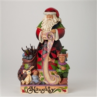 Naughty-Nice Santa 2-sided Figurine - Jim Shore / Heartwood Creek, 4027709