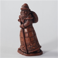Vintage Chocolate-colored Santa Claus - Jim Shore / Heartwood Creek Figurine, 4027710
