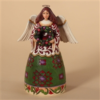 Christmas Angel with Wreath - Jim Shore / Heartwood Creek Figurine, 4027719