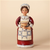 Heartwood Creek Pint-sized Pilgrim Woman Cooking Figurine by Jim Shore, 4027804