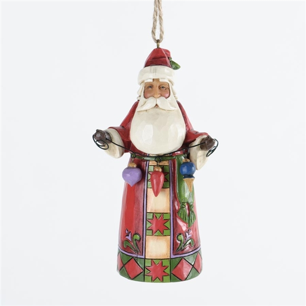 Santa With Christmas Ornaments Jim Shore Heartwood