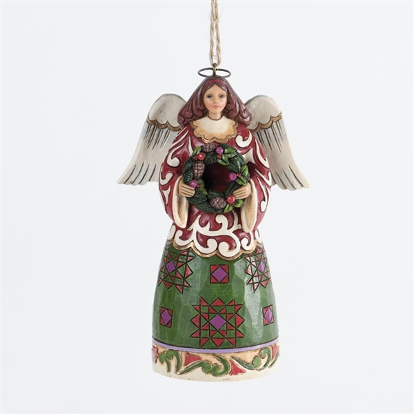 Angel with Wreath Christmas Ornament - Jim Shore ...