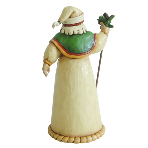 Heartwood creek green ivory and gold santa claus figurine