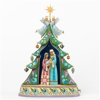 Musical Holy Family Tree - Jim Shore, Heartwood Creek Figurine, 4036685