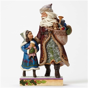 Heartwood Creek Victorian Santa with Child Figurine by Jim Shore, 4047672