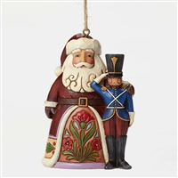 Heartwood Creek Santa with Toy Soldier Ornament by Jim Shore