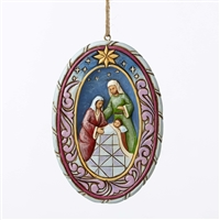 Heartwood Creek Nativity Hanging Ornament by Jim Shore - 4051537