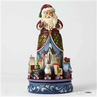 Heartwood Creek Santa with rotatable train scene figurine by Jim Shore, 4051543