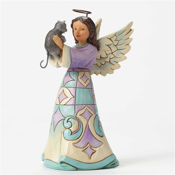 Heartwood Creek Pint Sized Angel With Kitten Figurine By