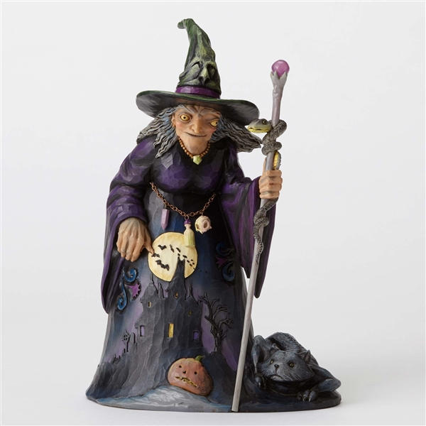 Heartwood Creek Witch With Graveyard Scene Figurine By Jim