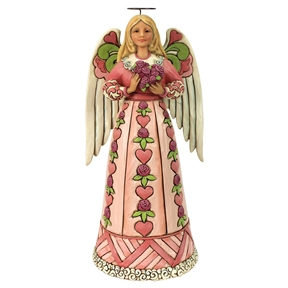 Heartwood Creek Breast Cancer Awareness Angel Figurine by Jim Shore, 6000674