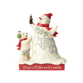 Coca Cola Snowman and Baby Polar Bear Figurine by Jim Shore, 4059473