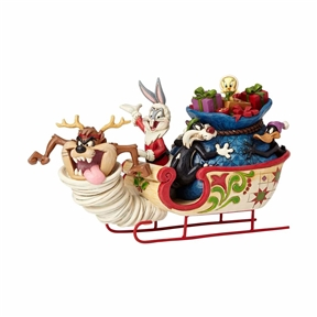 Looney Tunes Bugs Bunny with Friends in Sleigh Figurine by Jim Shore, 4052811