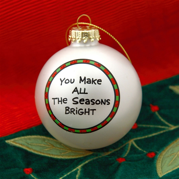 Different Is Awesome Holiday Package: 'You're Awesome' Christmas Ball Ornament, 4028066