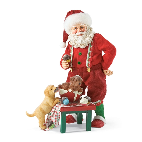 Santa With Puppies Possible Dreams Christmas Figurine