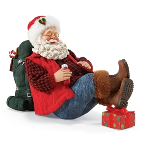 Possible Dreams Santa Going Camping Figurine, 4057103