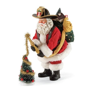 Possible Dreams Fireman Santa Decorating Tree Figurine, 4057107