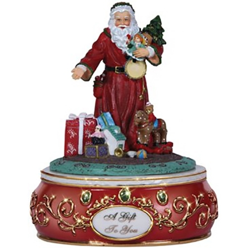 Santa with gifts pipka by precious moments musical