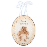 Believe Plaque with Ribbon Hanger - Precious Moments, 103445