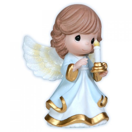 Angel holding candle precious moments figurine