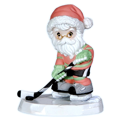 Ice Hockey Santa Christmas Figurine Precious Moments