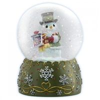 Snowman Musical Water Globe - Precious Moments, 121105