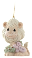 Lion with Christmas Wreath - Precious Moments 2008 Dated Ornament, 810007