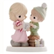 Girl with Christmas Elf - Precious Moments Figurine, 810047