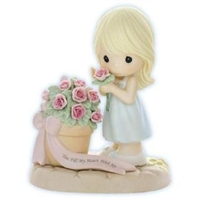 Girl with Potted Roses - Precious Moments Figurine, 830004