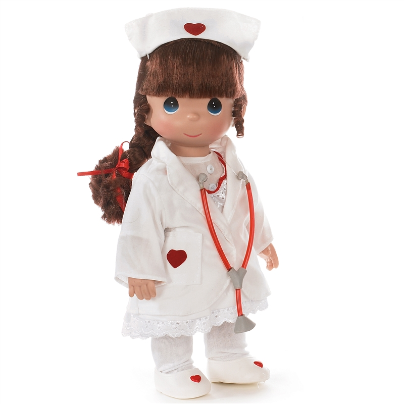 Precious Moments Loving Touch Nurse Brunette 12in Doll
