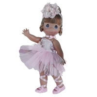 Ballernina Bliss, Auburn, 12in - Precious Moments Dolls, 4710