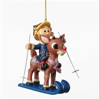 Rudolph Traditions Rudolph and Hermey Hanging Ornament By Jim Shore, 4053076