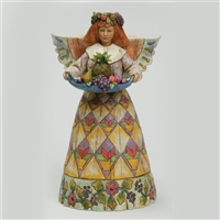 Heartwood Creek Angel with Tray of Fruit Figurine by Jim Shore, 108922